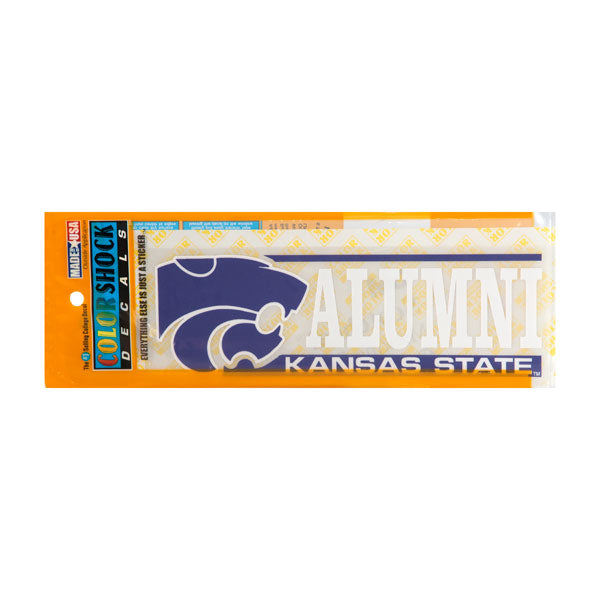 Kansas State Wildcats Color Shock Alumni Car Decal - G00004256