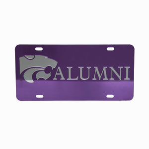 Kansas State Wildcats Purple Mirror Alumni License Plate - G00011551