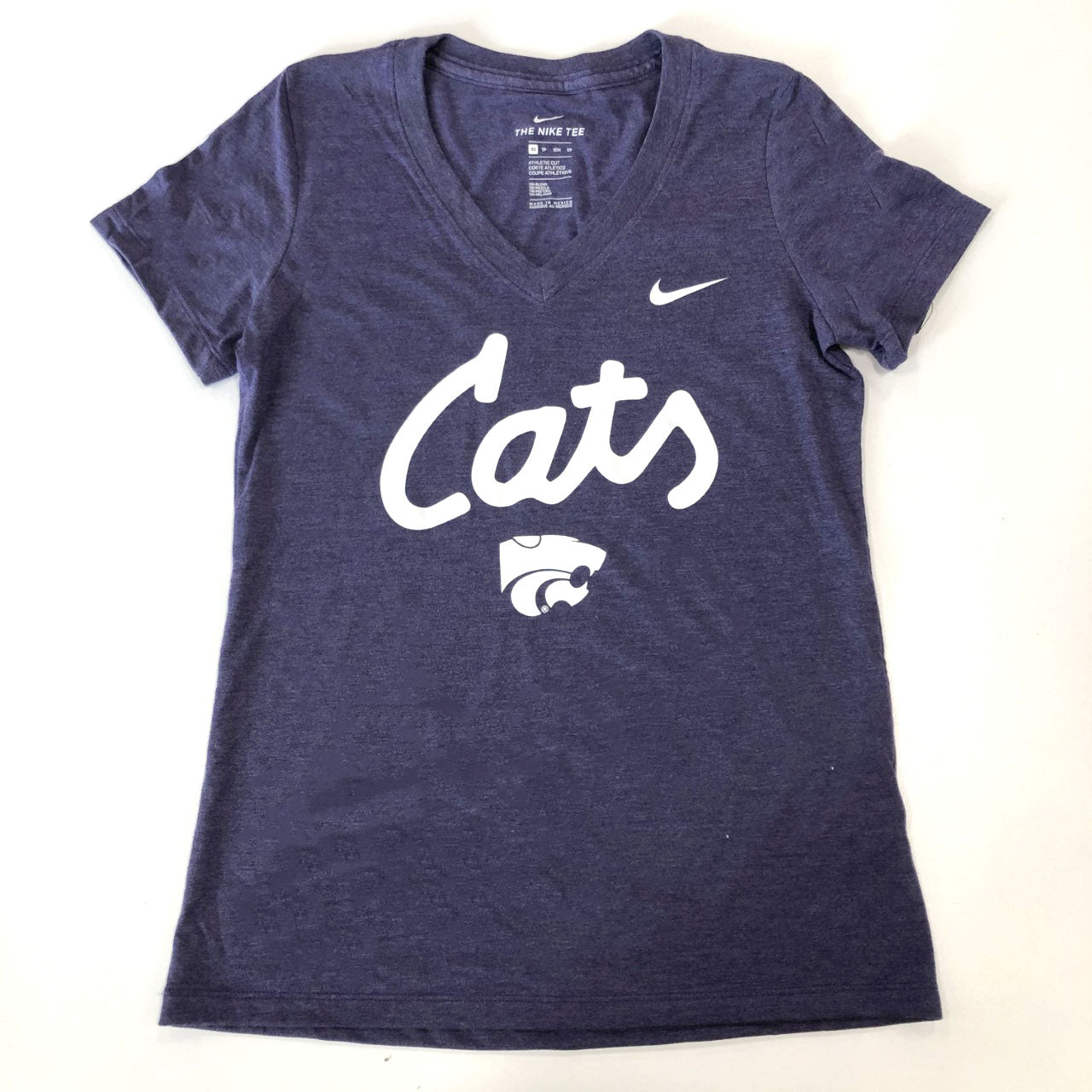 Kansas State Wildcats Nike Women's Cats Triblend V-Neck T-Shirt - 2008866