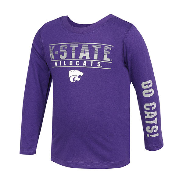 Kansas State Wildcats Toddler Boys Flackless Long Sleeve T-Shirt - 2008025