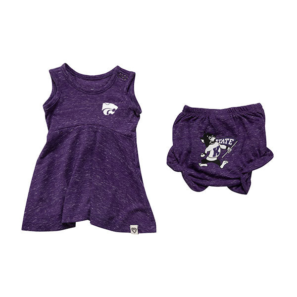 Kansas State Wildcats Infant Girls Snorkasarus Bloomer Set - 2008395