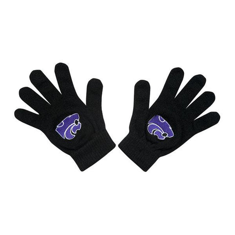 Kansas State Wildcats Black Knit Gloves - 2009526