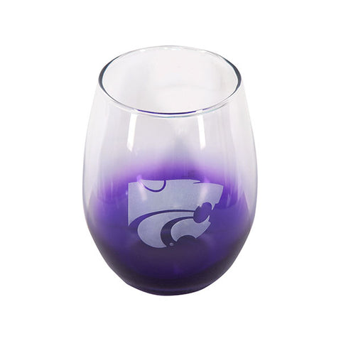 Kansas State Wildcats Purple Stemless Wine Glass - 2004883