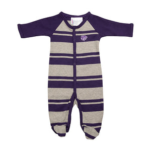 Kansas State Wildcats Infant Rugby Stripe Footed Creeper - 2004927