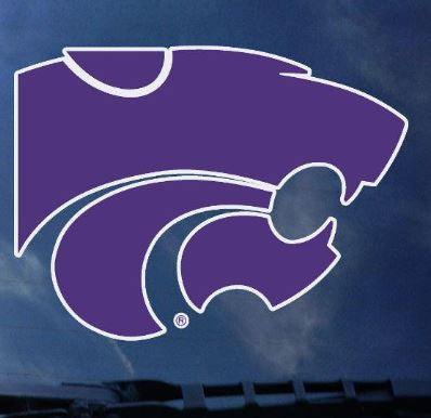 "Kansas State Wildcats 4"" Standard Purple Powercat Decal - 2005489"