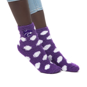 Kansas State Wildcats ZooZatz Purple Fuzzy Dot Socks - 2005757