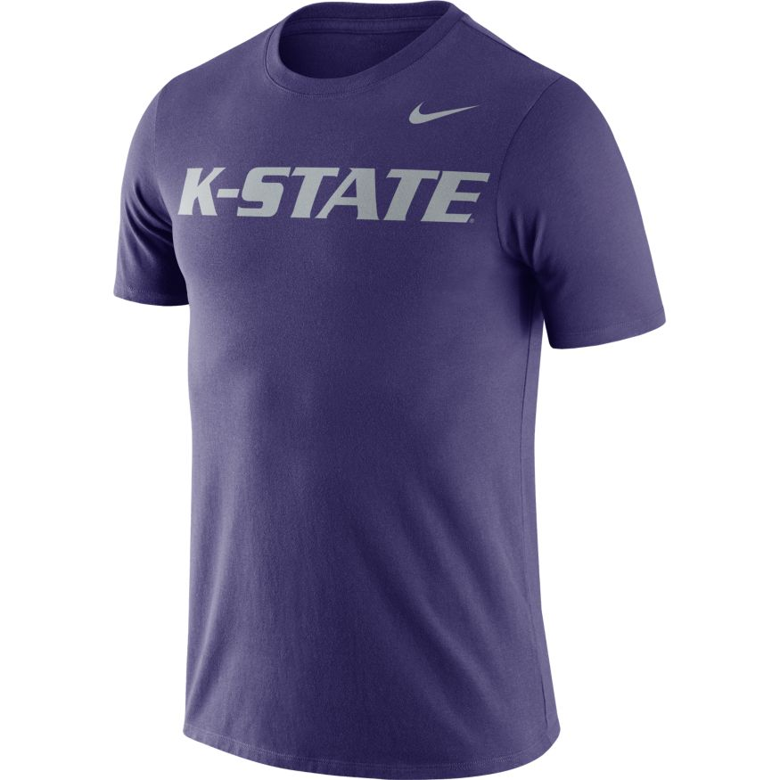 Kansas State Wildcats Nike Dri-FIT Cotton Wordmark Short Sleeve T-Shirt - 2006343