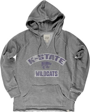 Kansas State Wildcats French Terry V-Neck Hoodie - 2006364