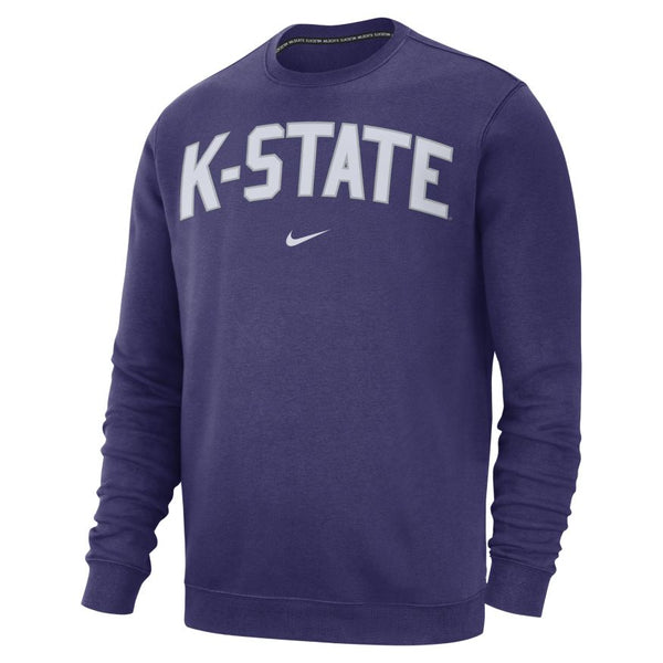 Kansas State Wildcats Nike Club Fleece Crewneck Sweatshirt - 2006492
