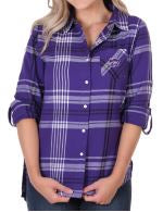 Kansas State Wildcats UG Boyfriend Plaid Top - 2006572
