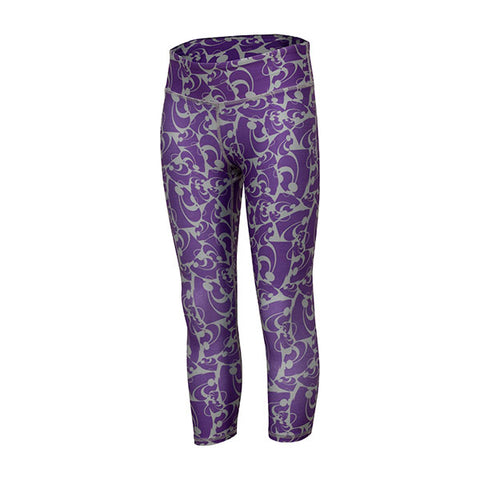 Kansas State Wildcats ZooZatz Youth Girls Stacked Leggings - 2006678