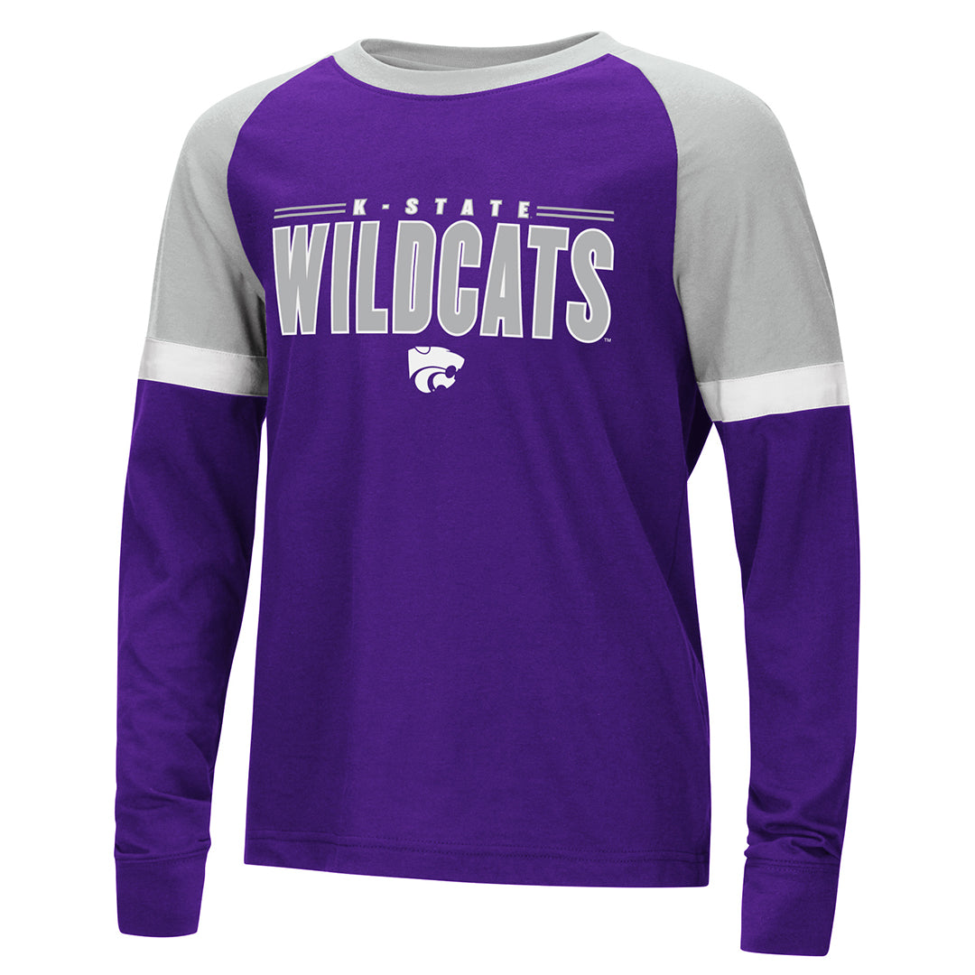 Kansas State Wildcats Youth Colosseum Ollie L/S Raglan Tee - 2006960
