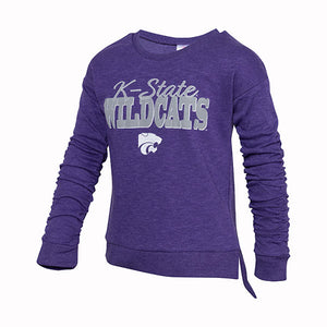 Kansas State Wildcats Youth Colosseum Girls Figure Skate L/S PO - 2006963
