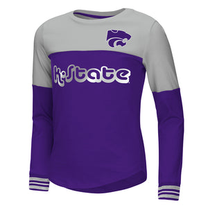 Kansas State Wildcats Youth Colosseum Girls Choctaw L/S Tee - 2006964