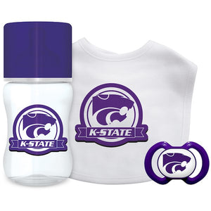 Kansas State Wildcats Baby 3 Piece Gift Set Bottle, Pacifier and Bib - 2007060
