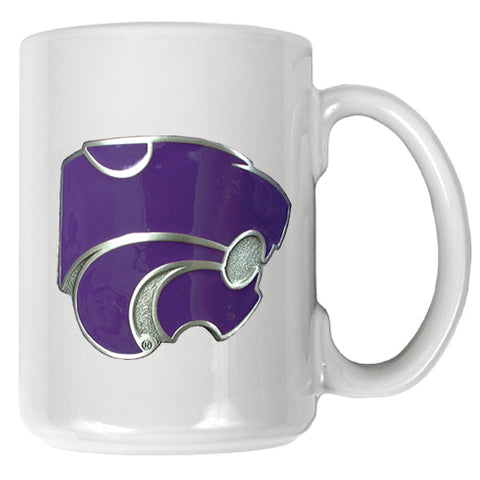 Kansas State Wildcats 15oz Ceramic Coffee Mug with Emblem - 2007141