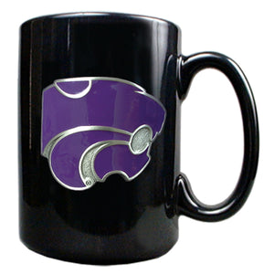 Kansas State Wildcats 15oz Black Ceramic Coffee Mug - 2007142