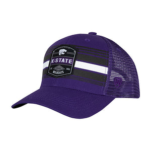 Kansas State Wildcats Branded Adjustable Snapback Trucker Mesh Hat - 2007176