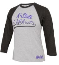 Kansas State Wildcats Wabash Collection Youth Raglan Baseball T-Shirt - 2007204