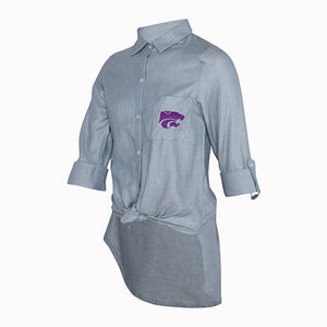 Kansas State Wildcats Ladies Breakaway Button Down Chambray Top - 2007308