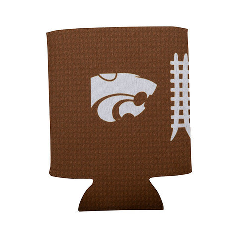 Kansas State Wildcats Sublimated Football Collapsible Koozie - 2007320