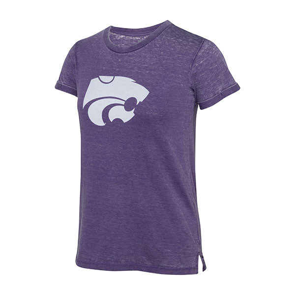 Kansas State Wildcats Pressbox Juniors Vintage Washed Boyrfiend T-Shirt - 2007352
