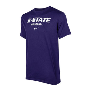 Kansas State Wildcats Nike Dri-Fit Legend Short Sleeve Baseball T-Shirt - 2007430