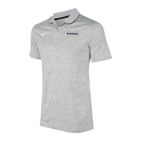 Kansas State Wildcats Nike Dry Grey Wordmark Polo - 2007435