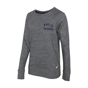 Kansas State Wildcats Nike Womens Gym Vintage Lightweight Crew Sweatshirt - 2007438