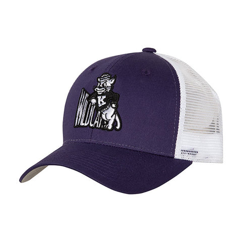 Kansas State Wildcats Wabash Collection Leaning Mascot Purple Trucker Mesh Hat - 2007446