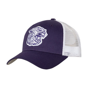 Kansas State Wildcats Wabash Collection Shaggy Mascot Purple Trucker Mesh Hat - 2007448
