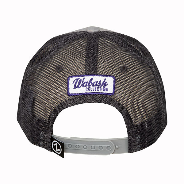 Kansas State Wildcats Wabash Collection Leaning Mascot Gray Trucker Mesh Hat - 2007449