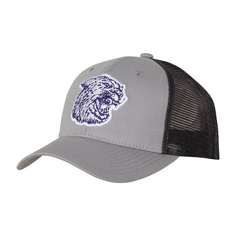 Kansas State Wildcats Wabash Collection Shaggy Mascot Gray Trucker Mesh Hat - 2007451