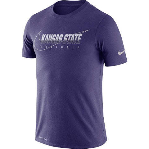 Kansas State Wildcats Nike Short Sleeve Dri-Fit Cotton Facility T-Shirt - 2007484