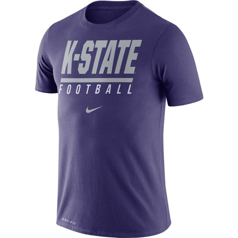Kansas State Wildcats Nike Dri-Fit Cotton Icon Wordmark T-Shirt - 2007503