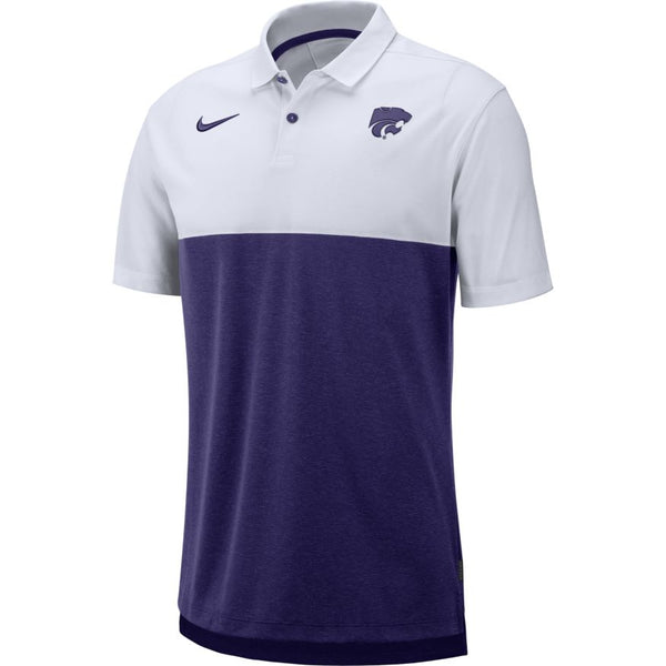 Kansas State Wildcats Nike Men's Purple Breathe Coaches Early Season Polo - 2007510