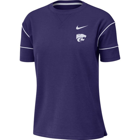 Kansas State Wildcats Nike Women's Fashion Breathe Short Sleeve Top - 2007516