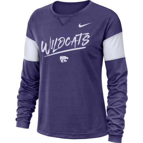 Kansas State Wildcats Nike Women's Breathe Long Sleeve Top - 2007519
