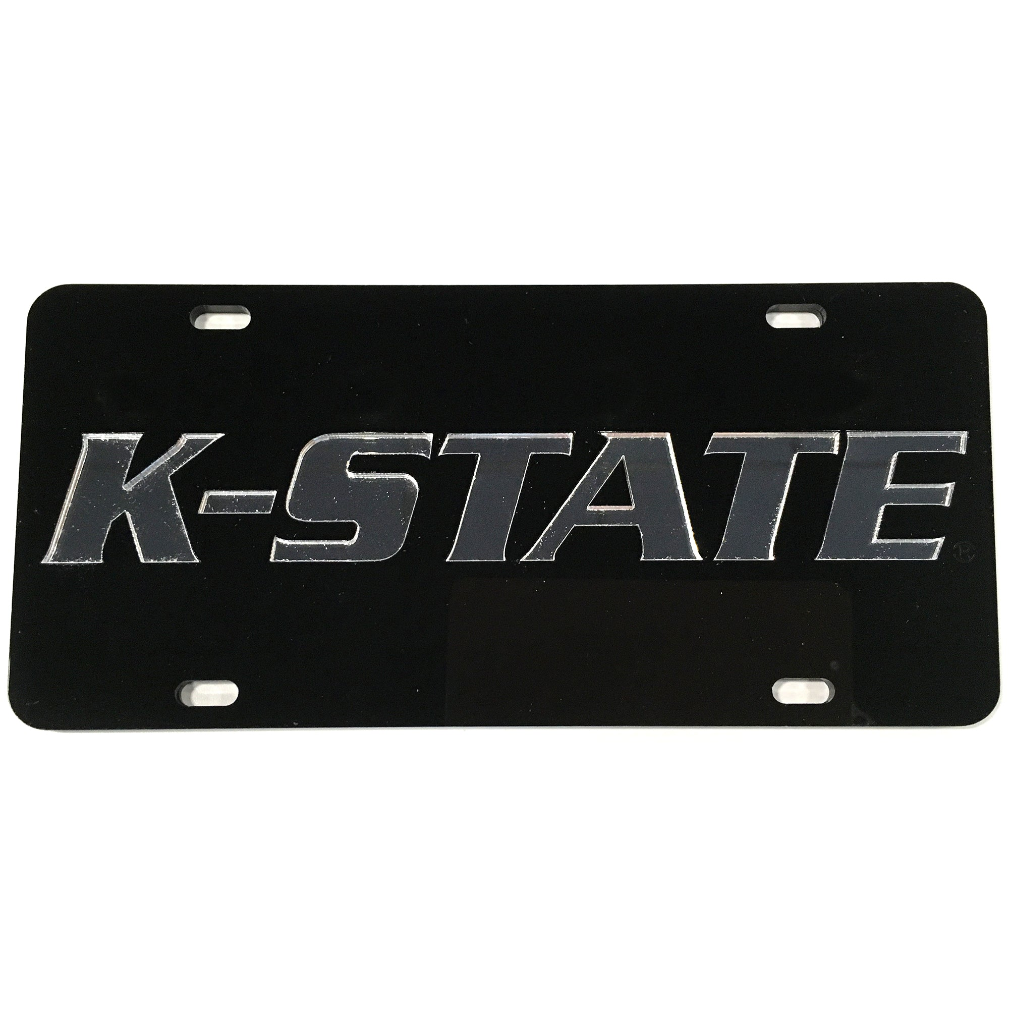 Kansas State Wildcats Black Wordmark License Plate - 2007542