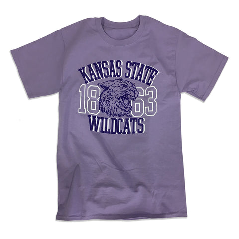 Kansas State Wildcats Hanes Tagless Lavender Wabash Collection Cotton T-Shirt - 2007543