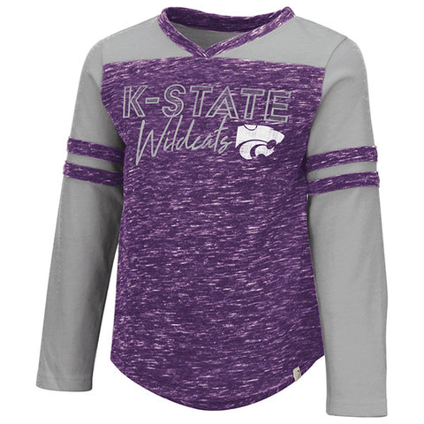 Kansas State Wildcats Toddler Girls Pipsqueak Long Sleeve T-Shirt - 2007567