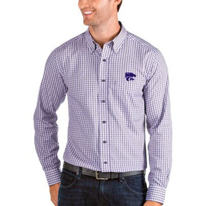 Kansas State Wildcats Antigua Structure Men's Long Sleeve Woven Shirt - 2007626
