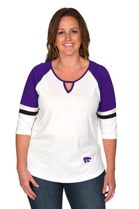Kansas State Wildcats Plus Size Baseball Top - 2007637