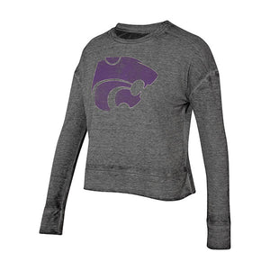 Kansas State Wildcats Ladies Surge Long Sleeve Crewneck Top - 2007642