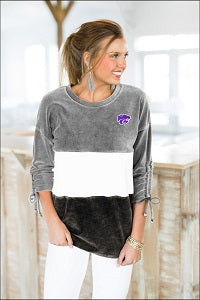 Kansas State Wildcats Women's Strike A Chord Corded Velour Tunic - 2007654