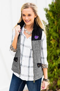 Kansas State Wildcats Women's Prep For It Herringbone Knit Vest - 2007656
