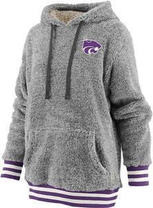 Kansas State Wildcats Kandi Sherpa Fleece Hooded Sweatshirt - 2007663