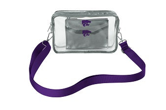 Kansas State Wildcats Stadium Clear Crossbody and Privacy Pouch - 2007694