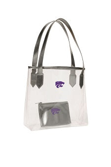 Kansas State Wildcats Clear Carryall Stadium Tote + Privacy Pouch - 2007695
