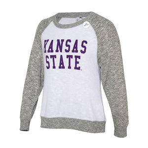 Kansas State Wildcats Cozy Crew Two Tone Sweatshirt - 2007699